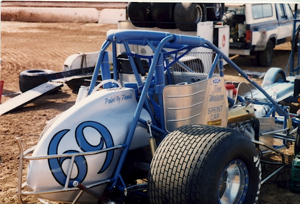 Jim Watson 454 CI Big Block Sprint Car uncovered rear view c.1990s