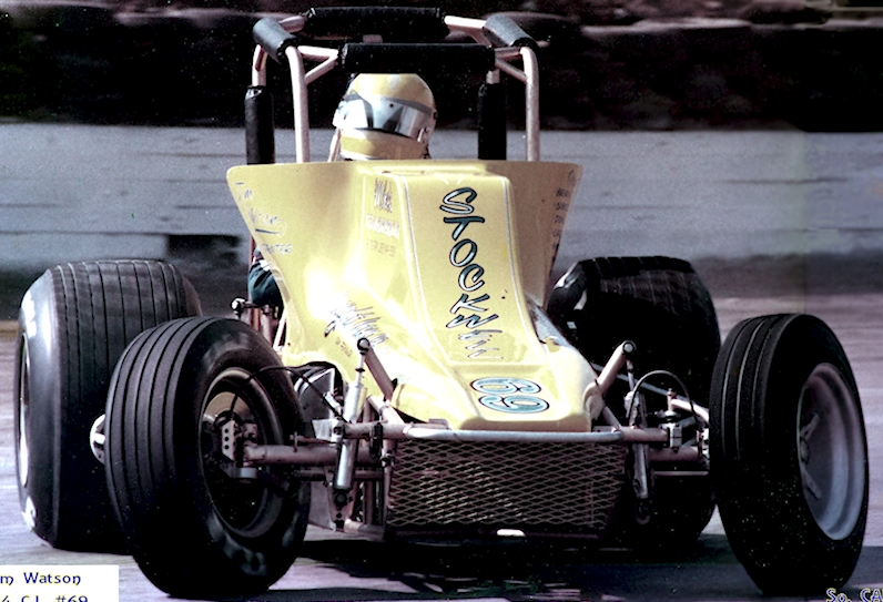 James Watson of Sun Valley California drives his 454 Big Block Sprint Car at an Arizona Speedway.