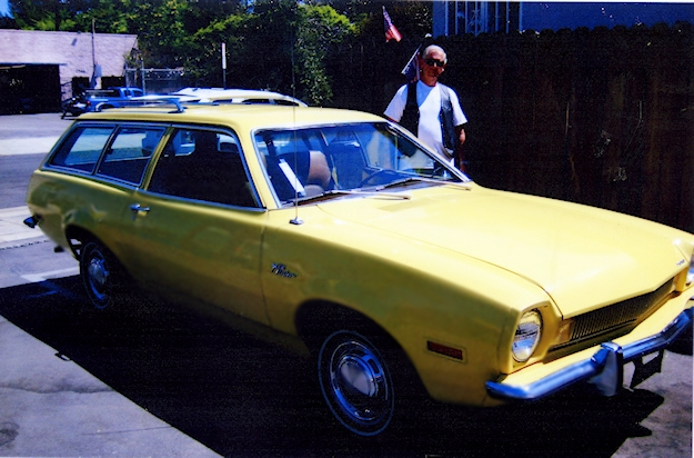 Jim Watson's fully restored vintage Yellow Ford Pinto Station Wagon