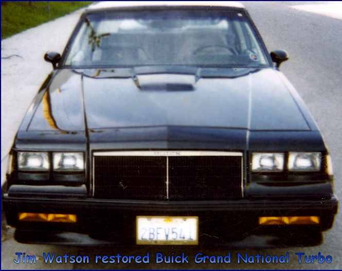 Fully restored Buick Turbo Grand National by Jim Watson