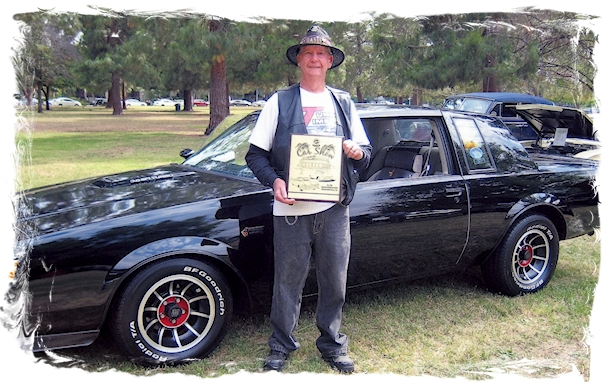 Jim Watson's Turbo Buick Grand National wins award at the Woodland Hills Car Show 2016