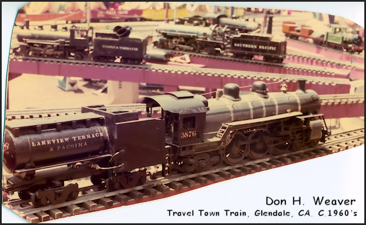 Donald H. Weaver had a train at travel town in Glendalee California during the 1960's.