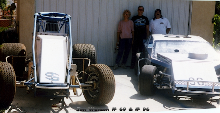 early 2000's, Jim Watson home photo of Pro Stock and Sprint Car.