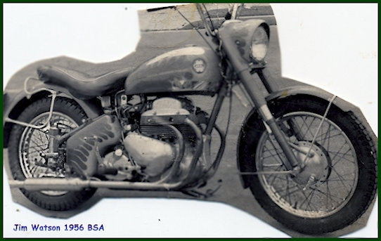 Jim Watsons 1956 BSA Motorcycle Rt. Side view