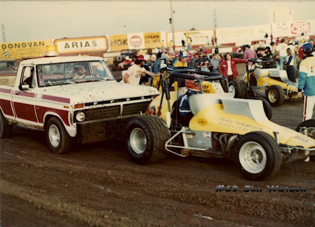 Jim Watson Yellow Sprint Car, c. 1980's/90s.