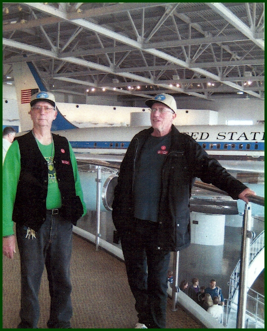 Jim Watson and friend touring Aerospace museum