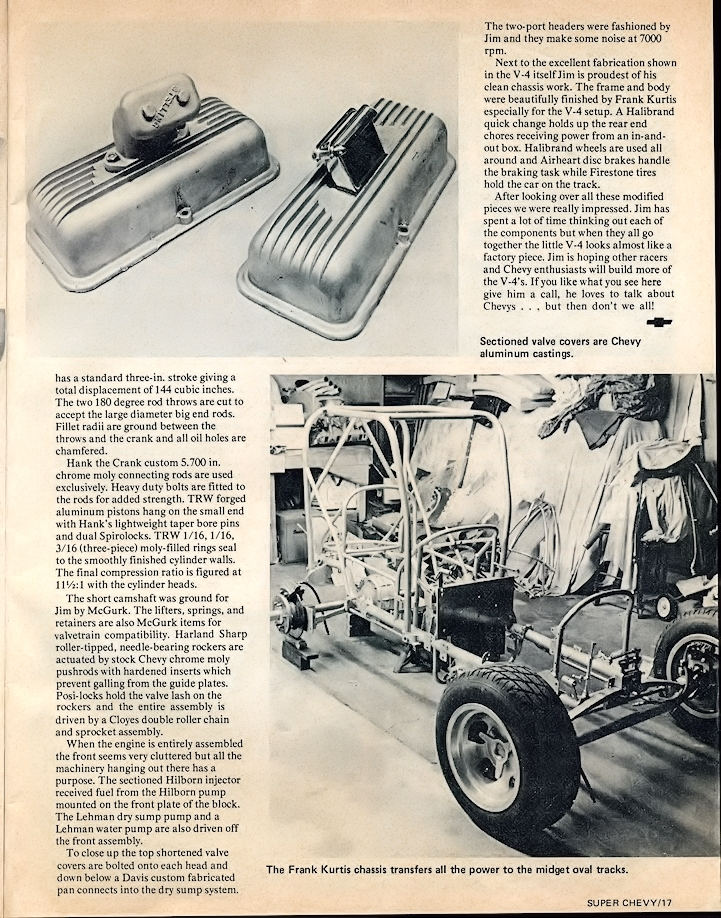 Sixth page of Super Chevy magazine article on Jim's V-4